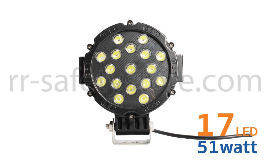 ไฟ LED 12V ติดรถยนต์ OFF ROAD 51W