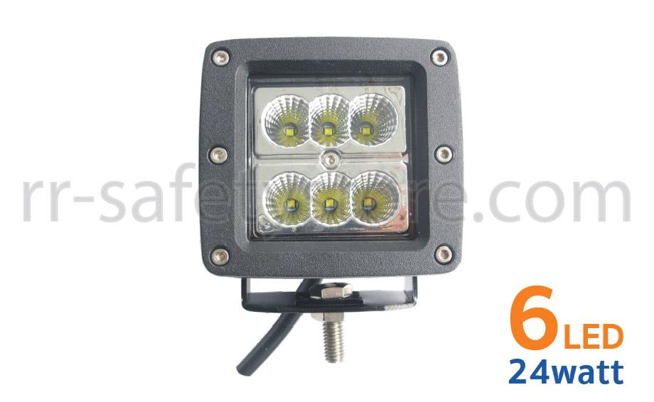 ไฟสปอร์ตไลท์ LED 12V ติดรถยนต์ 4x4 ออฟโรด 24W