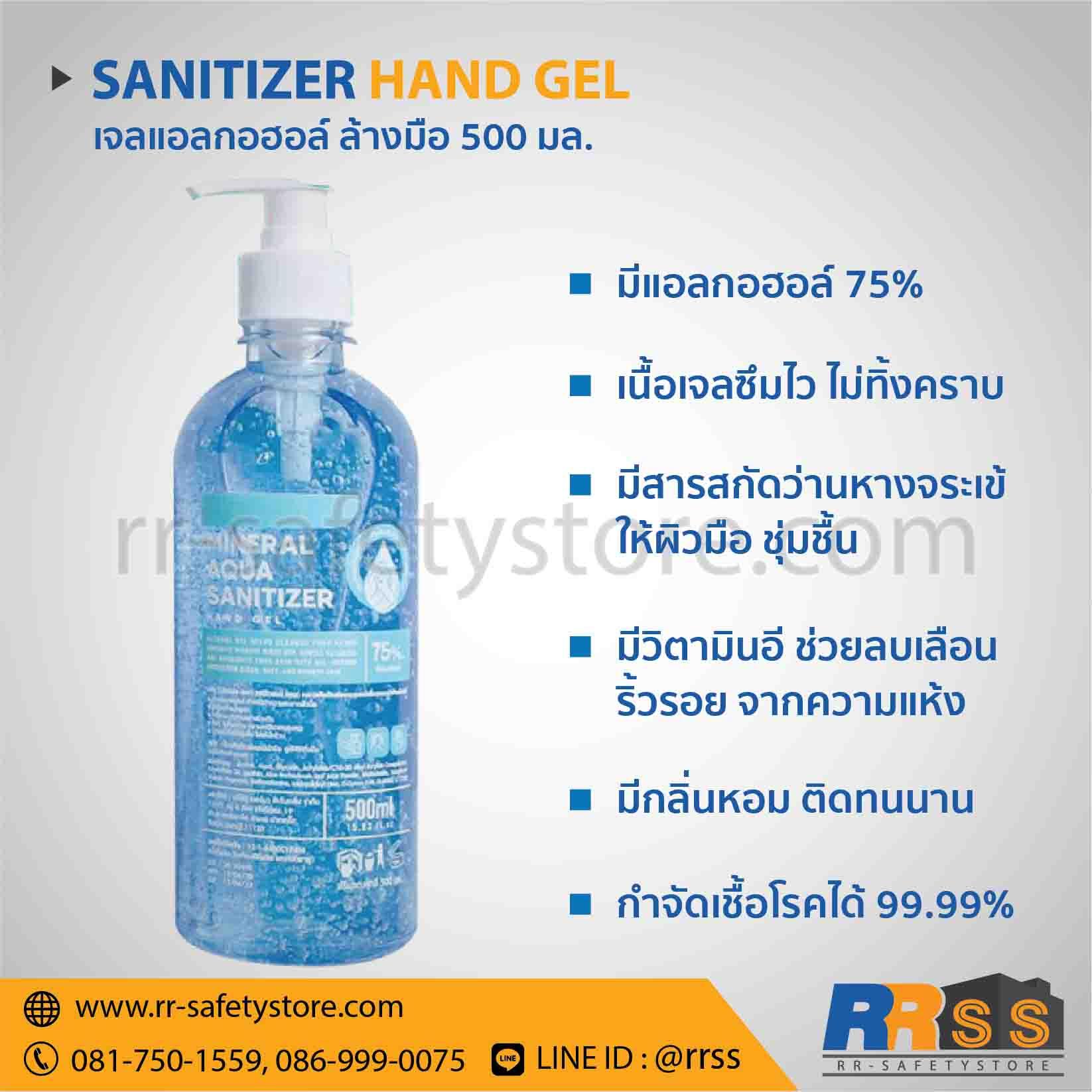 เจล ล้างมือ แอลกอฮอล์ หัวปั๊ม 500 ml.